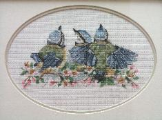 Stitches used: Whole and Three-quarter Cross Stitch, Backstitch, Longstitch and Frenchknots.