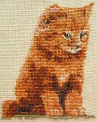 Stitches used: Whole and Three-quarter Cross Stitch, Backstitch and Frenchknots.