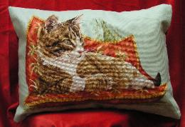 Stitches used: Whole and Three-quarter Cross Stitch, Backstitch, Longstitch.
